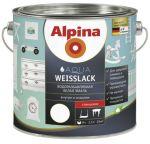 Эмаль Alpina Aqua Weisslack белая